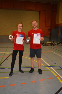 Saskia Lipps & Jérôme Cauquil mit Sportlerehrungen